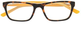 Polo Ralph Lauren Contrast Tortoiseshell Rectangle Glasses