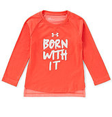 Under Armour Little Girls 2T-6X Born With It Long-Sleeve Tee