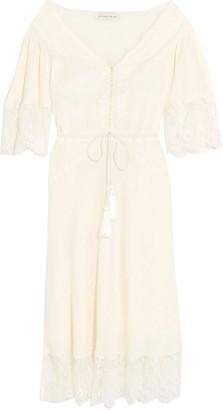 Etro Off-the-shoulder Lace-trimmed Silk-jacquard Midi Dress