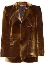 Vetements Patch-pocket velvet blazer