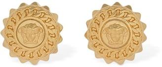 Versace Chained Medusa Stud Earrings
