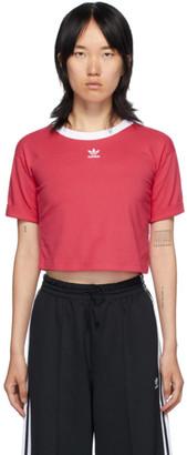 adidas Pink Logo Crop T-Shirt