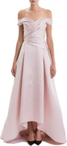 J. Mendel Hand Draped Off-The-Shoulder Gown