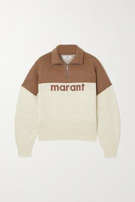 Etoile Isabel Marant Linn Intarsia Knitted Sweater - Camel