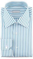 Stefano Ricci Awning Stripe Dress Shirt, Teal