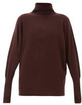Johnstons of Elgin Johnston's Of Elgin - Batwing-sleeve Cashmere Roll-neck Sweater - Womens - Dark Brown