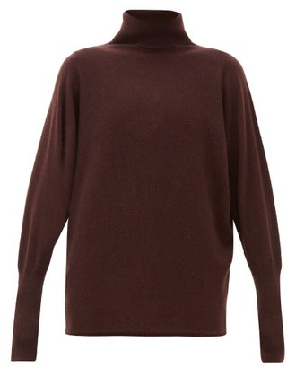 Johnstons of Elgin Johnston's Of Elgin - Batwing-sleeve Cashmere Roll-neck Sweater - Dark Brown