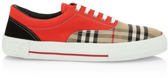 Burberry Plaid Skate Sneakers