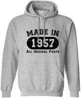 Tedim Made In 1956 All Original Parts 60th Birthday sixtieth Hoodie