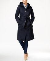 Anne Klein Hooded Water-Resistant Trench Coat