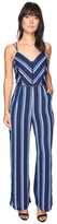 Adelyn Rae Cynthia Woven Striped Jumpsuit Women's Jumpsuit & Rompers One Piece