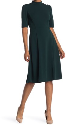 Donna Morgan Mock Neck Fit & Flare Dress