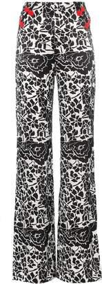 De La Vali Una Printed Wide Leg trousers