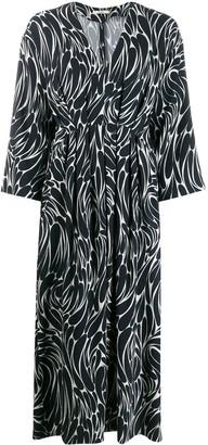 Odeeh Printed Pleated Dress
