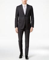 DKNY Men's Slim-Fit Black Solid Textured Suit