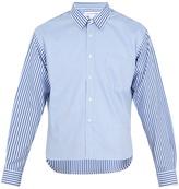 Comme des Garcons Contrast-panel step-hem cotton shirt