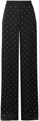 Temperley London Twinkle Crystal-embellished Georgette Wide-leg Pants