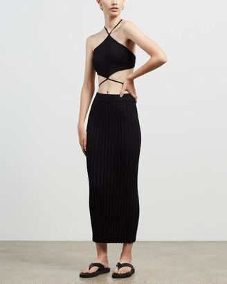 Bec & Bridge Bec + Bridge - Women's Black Pencil skirts - Envie Midi Skirt - Size 6 at The Iconic