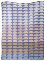 ferm LIVING Organic Cotton Jaquard Woven Bridges Blue Tea Towel