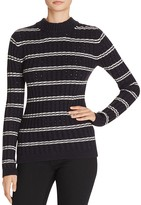French Connection Po Rib-Knit Stripe Sweater