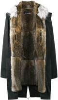 Yves Salomon Black fur lined parka
