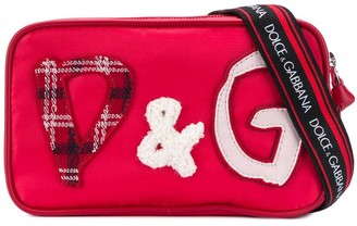 Dolce & Gabbana Kids DG patch belt bag