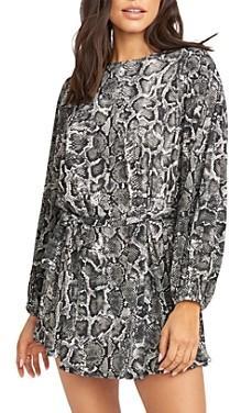 Show Me Your Mumu Geller Snakeskin Printed Mini Dress