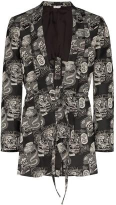 Comme des Garcons Buy Or Die jacquard blazer