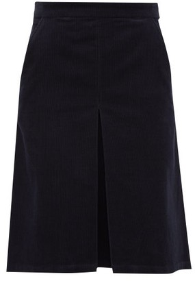 A.P.C. Coco Cotton-blend Corduroy Skirt - Womens - Navy