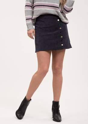 Blu Pepper Button Up Mini Skirt