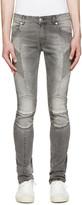 Pierre Balmain Grey Slim Faded Biker Jeans