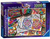 Ravensburger The Artist's Desk Jigsaw Puzzle, 1000 pieces