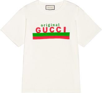 Gucci Logo Tee in Sunlight & MC | FWRD
