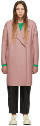 Harris Wharf London Pink Oversized Fitted Coat