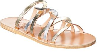 Ancient Greek Sandals Donousa Metallic Leather Sandal