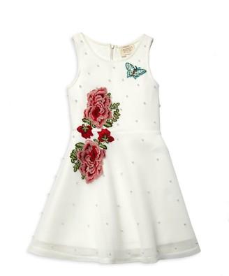 Hannah Banana Girl's Rose Fit-&-Flare Dress