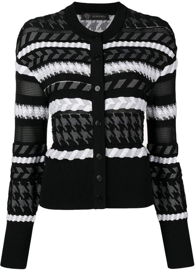 Versace knitted buttoned cardigan