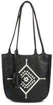 Mossimo Women's Braided Handle Tote Faux Leather Handbag Black