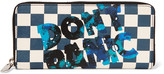 Marc by Marc Jacobs Don't Panic printed textured-leather wallet
