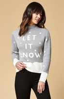 MinkPink Let It Snow Mock Neck Sweater