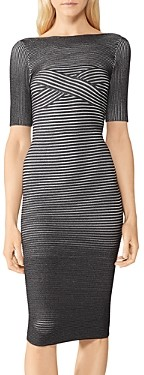 Herve Leger Ribbed Low Back Dress