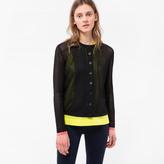 Paul Smith Women's Black Mixed-Crochet Cotton Cardigan