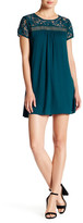 Trixxi Solid Lace Sheath Dress