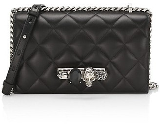 Alexander McQueen The Quilted Jewelled Leather Satchel