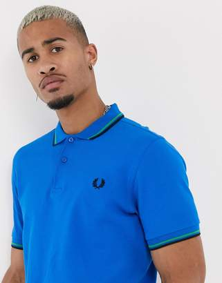 Fred Perry twin tipped polo in blue