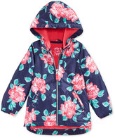 Carter's Little Girls' and Toddler Girls' Floral-Printed Rain Jacket
