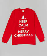 Micro Me Red 'Keep Calm and Merry Christmas' Tee - Toddler & Kids