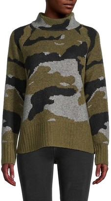 BeachLunchLounge Taylor Camo Mockneck Sweater
