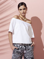 New York & Co. 7th Avenue - Off-The-Shoulder Blouse - White