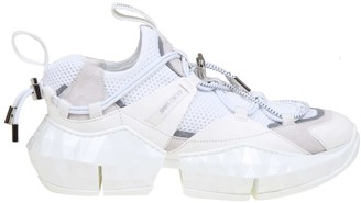 Jimmy Choo Sneakers Diamond Trail / F In Stretch Fabric Color White